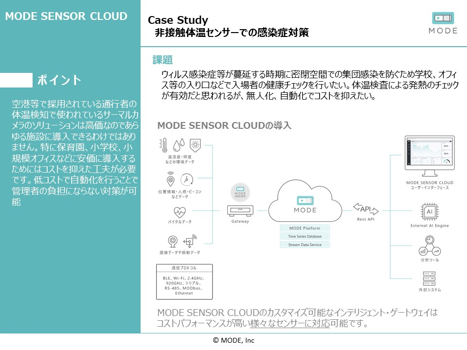 case study 非接触体温センサーで感染症対策